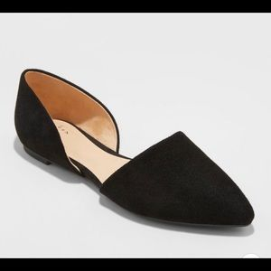 Women's Rebecca Microsuede Pointed Black Flats